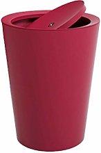 YBYB Waste bin Swing Lid Trash Can, Plastic