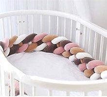 YCDZ Woven Crib Fence Pure Cotton Bumper Guardrail
