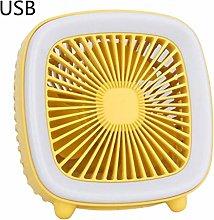 YCEOT Portable Mini Desktop Fan Retro Tv Design