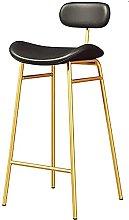 YCJK Bar Stool, Round With Backrest, PU Seat,
