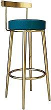 YCJK Bar Stool, Upholstered Backrest Dining Chair,