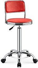 YCJK Bar Stool With Backrest 360° Rotating PU