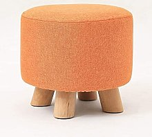 YCJK Footstool Upholstered Footstool Square Foot