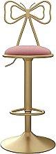 YCJK Modern Velvet Bar Chair With Backrest,
