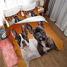 YCLJFQY Microfibre Duvet Cover Set Double Animal