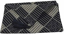 YCSC Japan Style Printed Blue Ukiyoe Weave Table