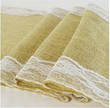 YCSC Rustic Lace Table Runner Natural Imitated