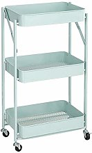 YCSD Foldable Storage Cart With Wheels 3 Tier