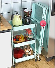 YCSD Trolley Kitchen Trolley Foldable With 3 Tier,