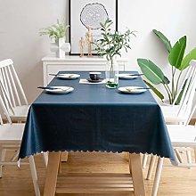 YCTZ Plastic Tablecloth Series,Navy Blue