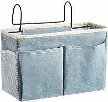 YCUDS Cotton Linen Bedside Pocket,Dorm Rooms