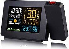 YCYLMQ Digital Alarm Clock, Weather Station with