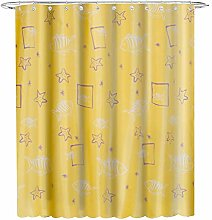 YCZZ Polyester shower curtain, thickened yellow