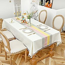 YCZZ Table cloth, rectangular cotton and linen