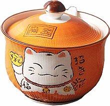 YDGHD Ceramics Japanese Lucky Cat Sugar Salt