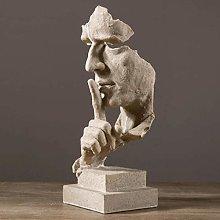 YDS SHOP Statue Resin Silence is a Golden Man