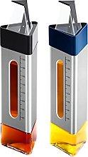 YDZK 2 Pack Oil Vinegar Bottles Triangle 260ml