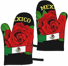 Ye Hua Mexico Red Rose Cooking Gloves Heat