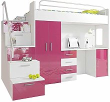 Ye Perfect Choice High Sleeper Modern Set with