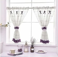 Yeanee Kitchen Window Curtain Modern Style Cafe
