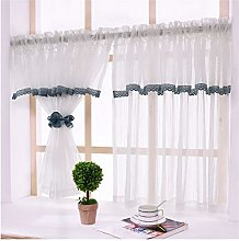 Yeanee White Kitchen Net Curtain Cafe Sheer Voile
