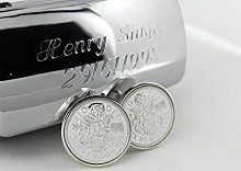 Year 1998 Lucky Sixpence Sterling Silver Cufflink