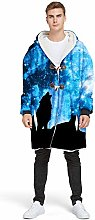 YEARGER hooded blanket, horn buckle design coat,