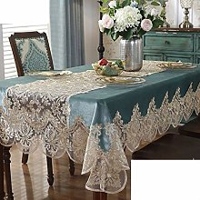 YEARLY Hollow Out Lace Tablecloth Fabric Modern