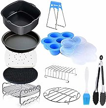 Yebobo 11 Pieces of Square Air Fryer Accessories,