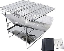 YECUI Camping Folding Grill Charcoal Grills Picnic