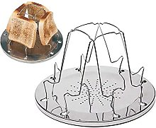 YECUI Toast Stand BBQ Stand Camping Toaster Bread