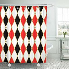 YEDL Circus Harlequin Patterns Golden Grid Red