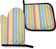 YeeATZ Funky Cheerful Rainbow Striped Summer Oven