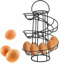 YEEGO Chrome Egg Storage Helter Skelter Egg Holder