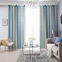YEENUEER Nursery Curtains Blue Blackout Curtain