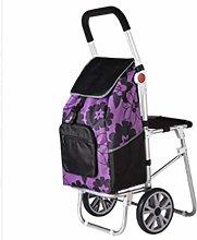 YEESEU Small Cart Truck Folding Shopping Cart