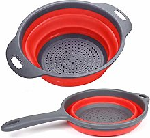 YEKONG Collapsible Colander(2 Pack), BPA Free