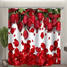 Yelilad Shower Curtain With Hooks Mould Proof