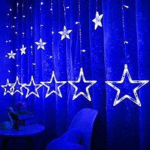 Yelite LED Curtain Lights,12 Stars 138 LED Curtain