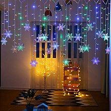 YELITE LED Curtain Lights Christmas Snowflake