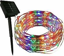 YELITE Solar String Lights, 33FT 100 Led Copper