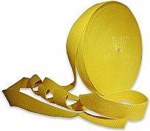 Yellow 38mm Webbing 1.5 Inch Heavy Duty Belt Strap