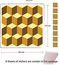 Yellow 3D Cubes Self-adhesive wall sticker mural