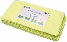 Yellow 400mm Microfibre Cloth Pk10 - CNT01625 -