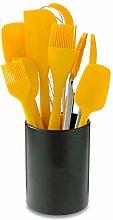 Yellow 8-piece Set Silicone Handle Kitchenware Set