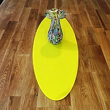 Yellow Acrylic Oval Table Runner - Large - 60 x 22