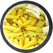 Yellow Banana Cabinet Pulls Round knobs with
