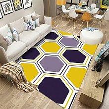Yellow black purple geometric hexagon pattern