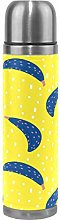 Yellow Blue Bananas Art Water Bottle Stainless