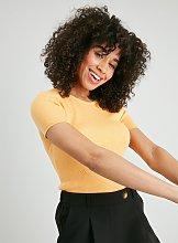 Yellow Bobble Heart Ribbed T-Shirt - 20